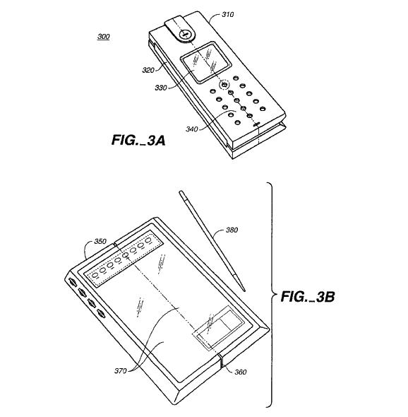Teléfono con pantalla plegable